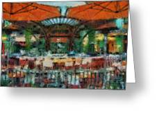 Catal Outdoor Cafe Downtown Disneyland Photo Art 03 Greeting Card