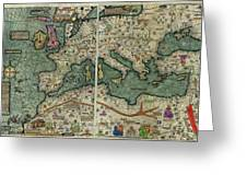 Catalan Atlas Greeting Card