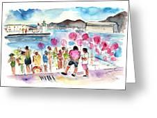 Catamaran Party In Cartagena Greeting Card
