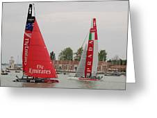 Catamarans In S.marco Greeting Card