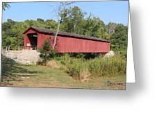 Cataract Falls Covered Bridge Greeting Card
