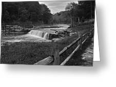 Cataract Falls Indiana Black N White Greeting Card