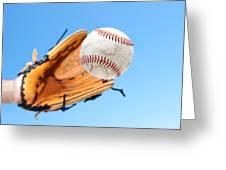 Catching A Baseball Greeting Card by Joe Belanger