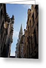 Catching A Glimpse Of Grand Place Brussels Belgium Greeting Card