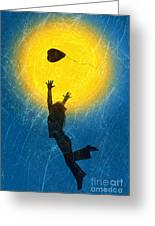 Catching A Heart Greeting Card by Tim Gainey