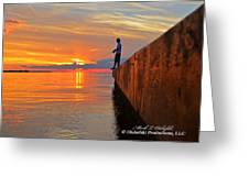 Catching A Navarre Sunset Greeting Card