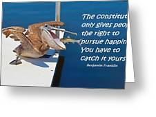 Catching Happiness Greeting Card