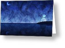 Catching The Moon Under Water Greeting Card