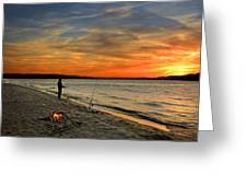 Catching The Sunset Greeting Card