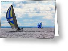 Catching The Wind Greeting Card by Michelle and John Ressler