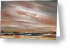Catcleugh Reservoir Series Sunset Greeting Card