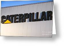 Caterpillar Sign Picture Greeting Card by Paul Velgos