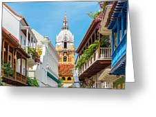 Cathedral And Balconies Greeting Card
