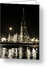 Cathedral At Nine Fifteen Greeting Card by Tony Reddington