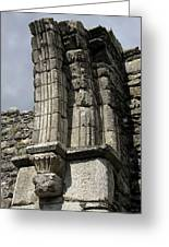 Cathedral Broken Arch At Glendalough Greeting Card