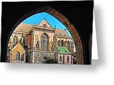 Cathedral Colmar France Greeting Card