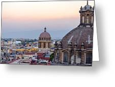 Cathedral Dome And City Greeting Card