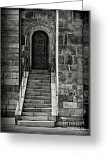 Cathedral Door And Steps Greeting Card