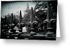 Cathedral Fence Greeting Card