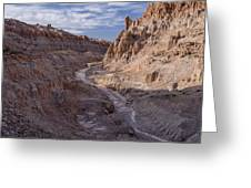 Cathedral Gorge Wash Greeting Card