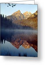 4m9304-cathedral Group Reflection, Tetons, Wy Greeting Card