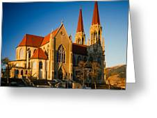 Cathedral Helena Montana Greeting Card