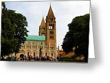 Cathedral In Pecs Greeting Card
