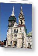 Cathedral In Zagreb Croatia Greeting Card