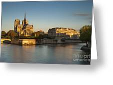 Cathedral Notre Dame - Sunrise Greeting Card