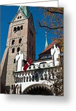 Cathedral Of Augsburg Greeting Card