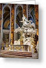 Cathedral Of Chartres Altar Greeting Card