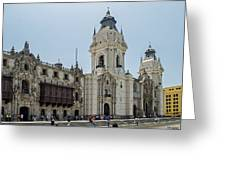 Cathedral Of Lima Greeting Card