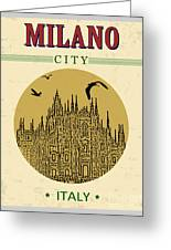 Cathedral Of Milano, Italy  In Vintage Greeting Card
