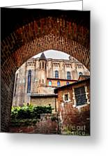 Cathedral Of Ste-cecile In Albi France Greeting Card