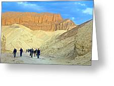 Cathedral Peaks From Golden Canyon In Death Valley National Park-california Greeting Card
