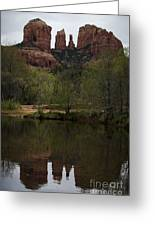 Cathedral Rock And Reflection Greeting Card