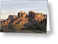 Cathedral Rock At Sunset Greeting Card