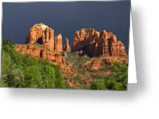 Cathedral Rock Before The Storm Greeting Card