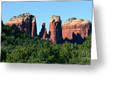 Cathedral Rock Behind The Forest Greeting Card