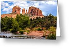 Cathedral Rock Greeting Card by Fred Larson