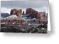 Cathedral Rock In Winter Arizona Greeting Card