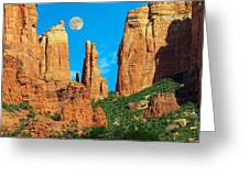 Cathedral Rock Moon Greeting Card