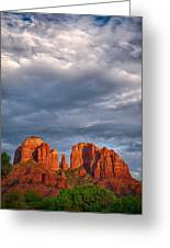 Cathedral Rock Sunset Greeting Card by Robert Jensen