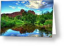 Cathedral Rocks At Red Rock Crossing Greeting Card