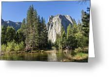 Cathedral Rocks In Yosemite Greeting Card