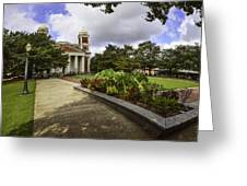 Cathedral Square And Church Greeting Card