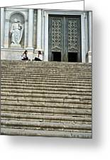 Cathedral Steps Girona Spain Greeting Card