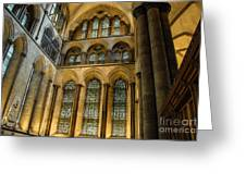 Cathedral Walls And Windows Greeting Card