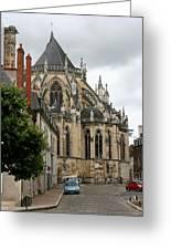 Cathedrale Saint - Cyr - Et - Sainte - Julitte De Nevers Greeting Card