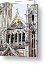Cathedrals Of Tuscany Siena Italy Greeting Card
